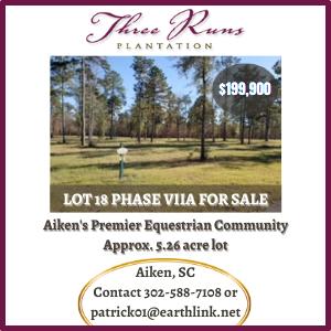 Three Runs Plantation-Lot for Sale-Aiken SC-Patrick Bagnal