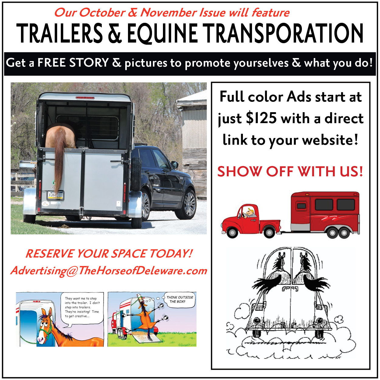 October Promo Ad-Trainers & Trailers