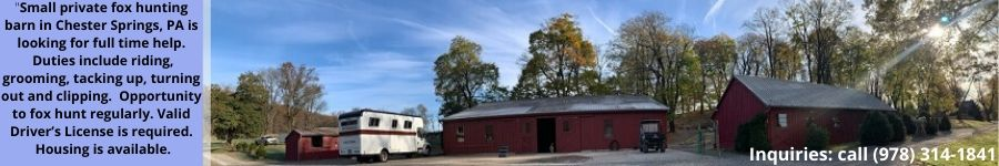 Fox Hunting Barn-Help Wanted