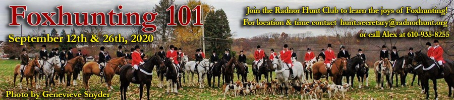 Radnor Hunt_Fox Hunting 2020