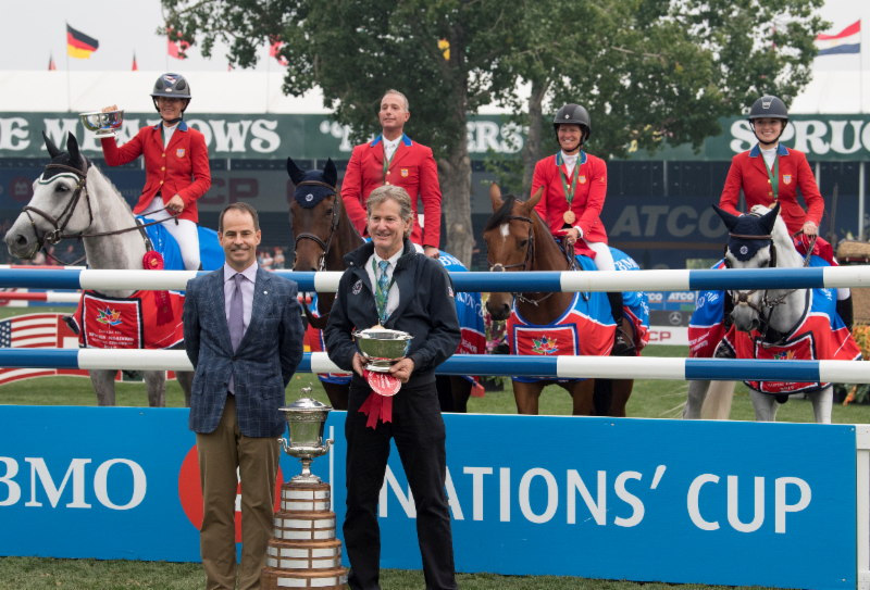winning Spruce Meadows Nations cup