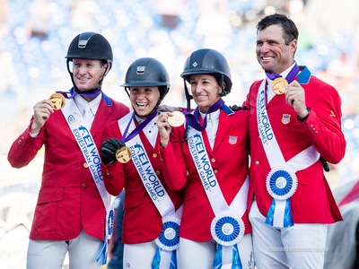 The gold medal U.S. show jumping team