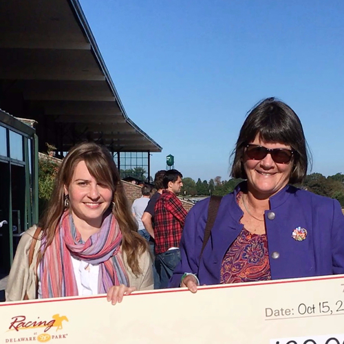 Lauren Gassaway Executive Director CANTER Delaware left Bev Strauss President Mid Atlantic Horse Rescue right